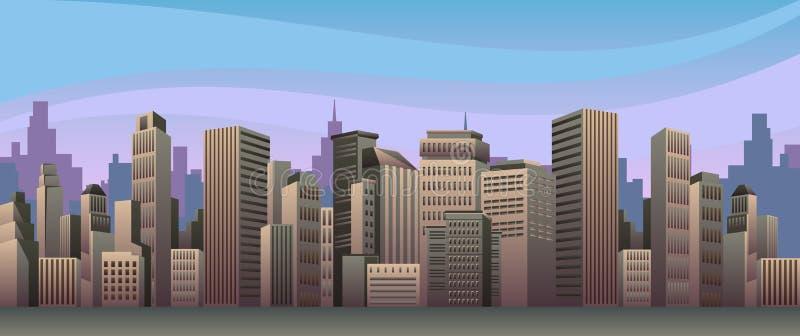 Evening city royalty free illustration