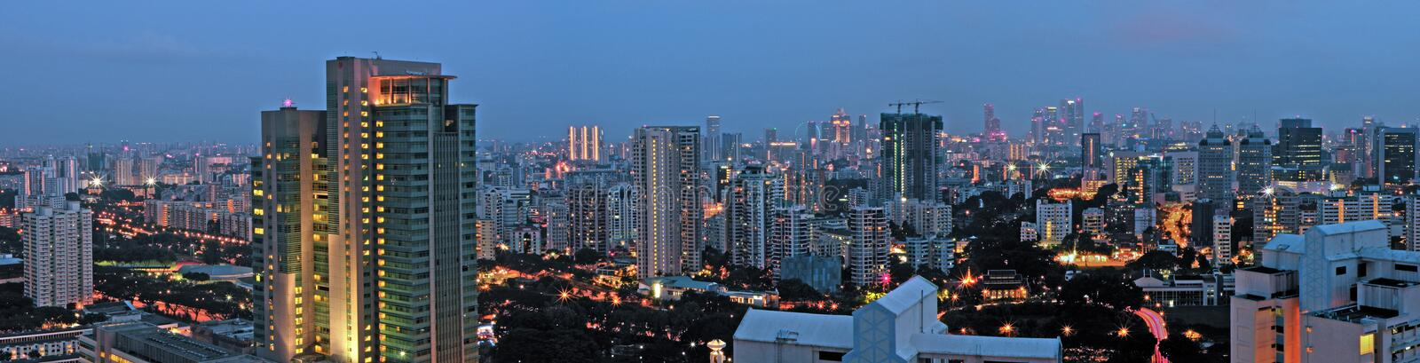 Download Evening City Skyline Panorama Singapore Stock Photo - Image: 9017870