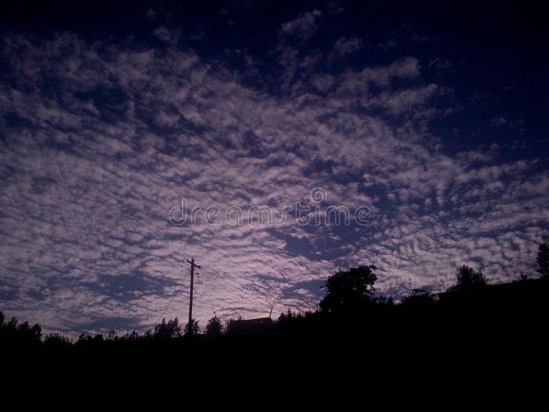 Evening clouds royalty free stock images