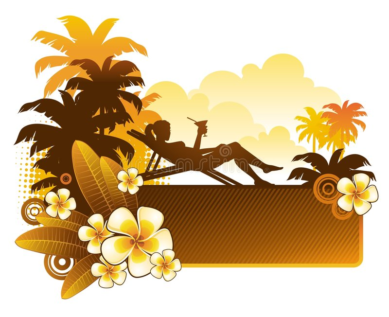 Download Evening cocktail stock vector. Image of flora, girl, tanned - 9345694