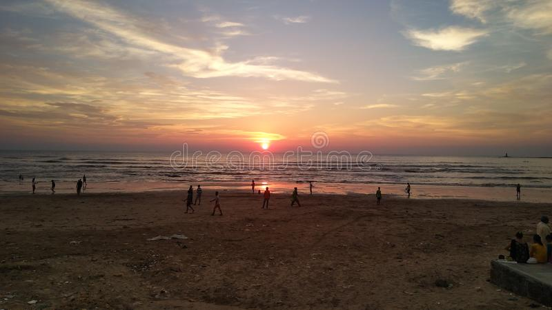 Beach madh royalty free stock image