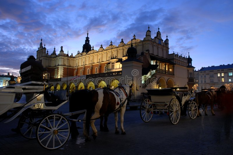 Download Evening in cracow stock photo. Image of tourism, cracow - 1681472