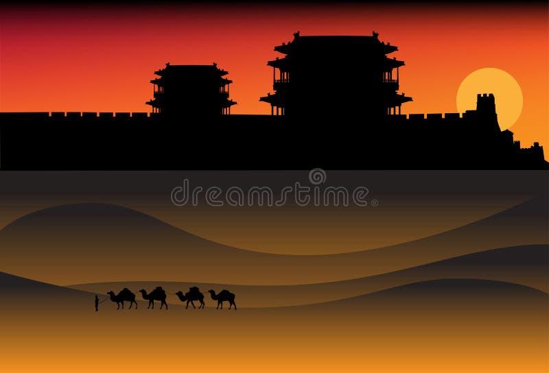 Download Evening desert landscape stock vector. Illustration of tower - 21489244