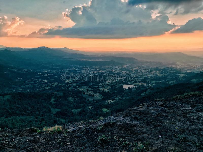 evening drive on the mountain royalty free stock photography