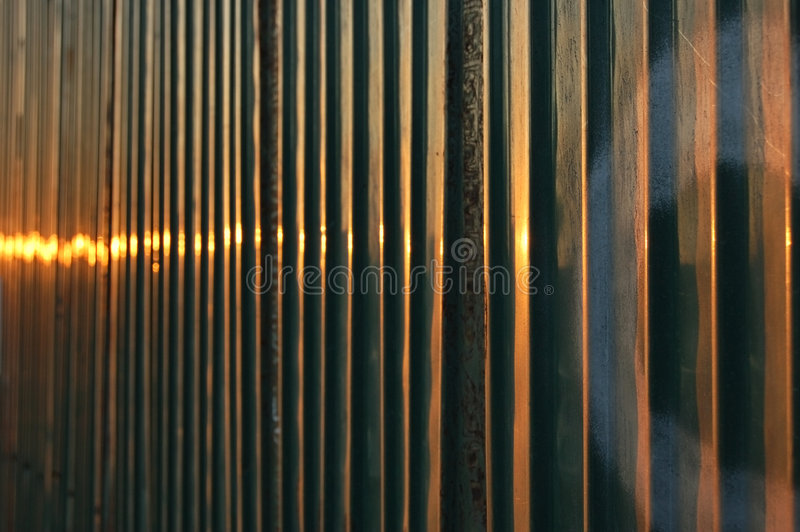Download Evening fence stock image. Image of blur, sunset, glare - 1575313
