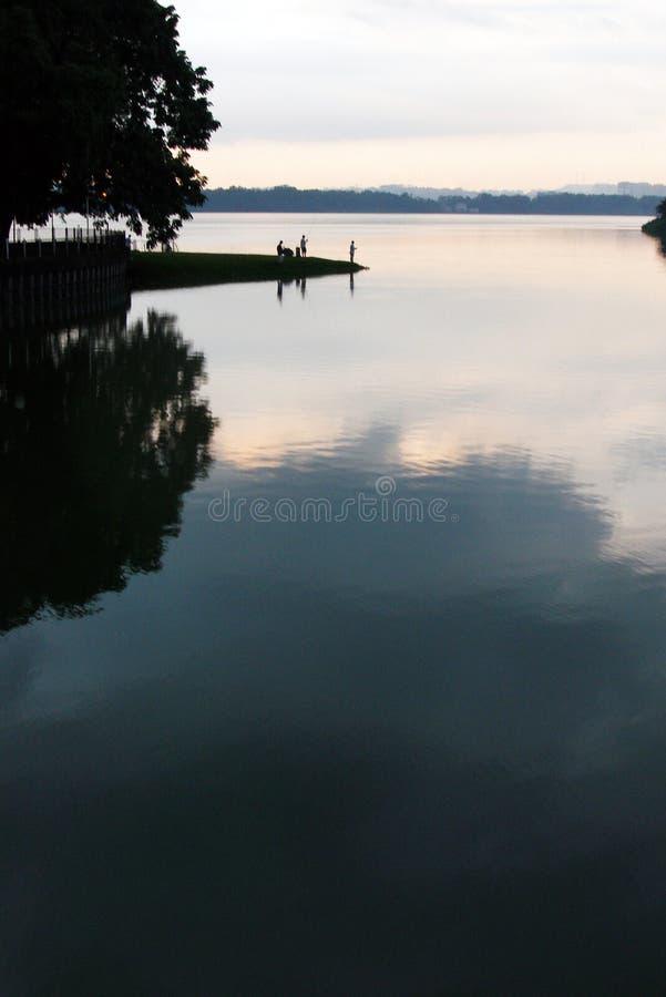evening fishing στοκ φωτογραφία με δικαίωμα ελεύθερης χρήσης