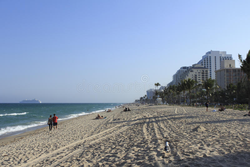 Evening at Fort Lauderdale Beach royalty free stock images