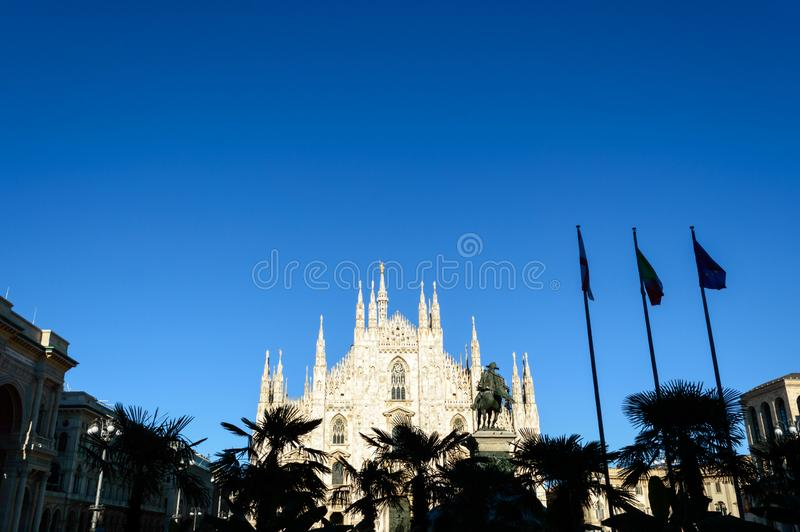 Duomo di Milano - Milan Dome. Ancient cathedral in Northern Italy stock image