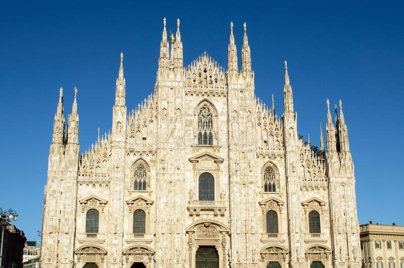 Duomo di Milano - Milan Dome. Ancient cathedral in Northern Italy royalty free stock photos