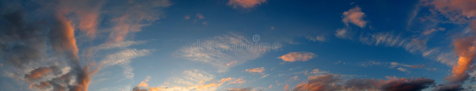 The evening glow royalty free stock photography