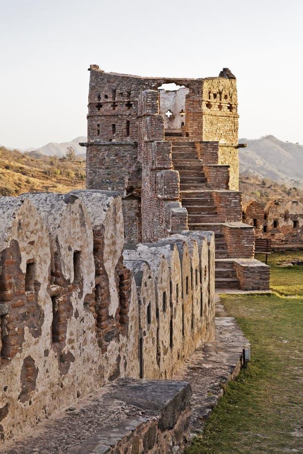 Download Evening Glow Kumbhalgar Fort Tower India Stock Photo - Image of frame, gardens: 24018182