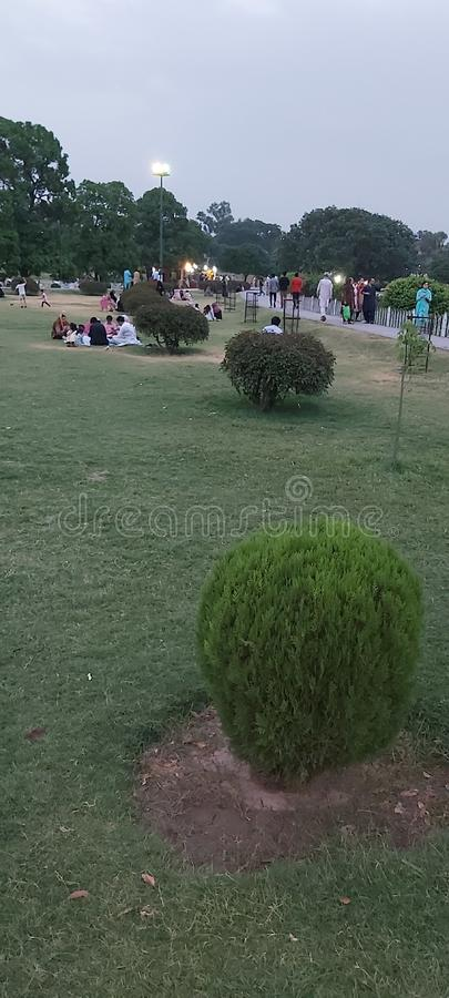 Evening at Gulshan Park Lahore Pakistan royalty free stock photo