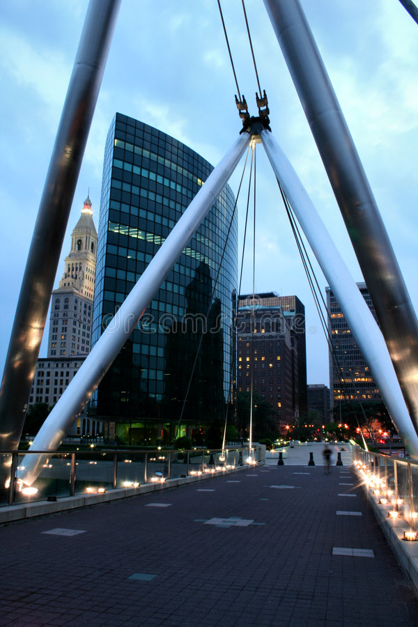 Evening in Hartford stock photography