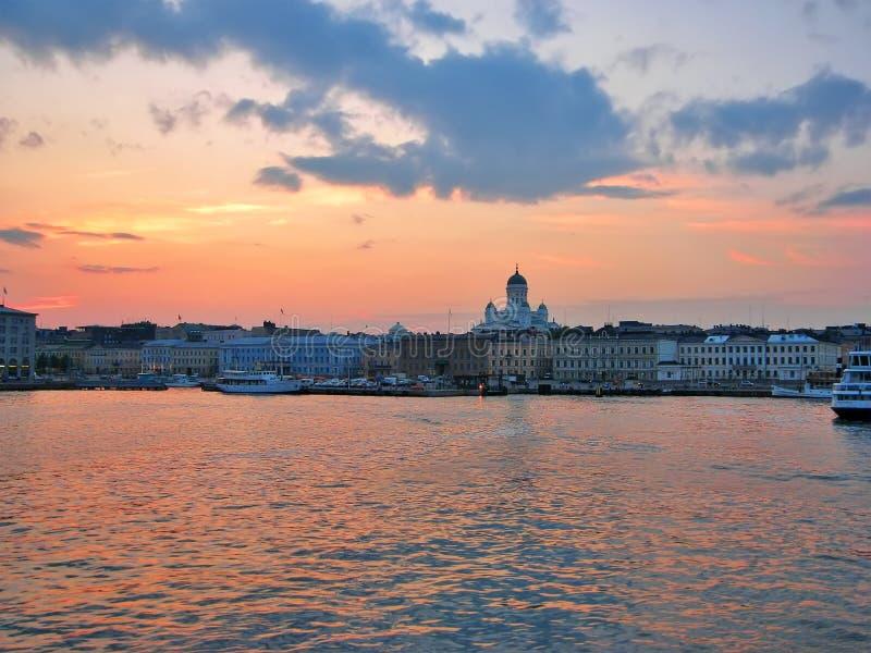Evening Helsinki stock photography