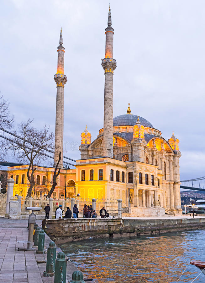 The evening in Istanbul royalty free stock photos