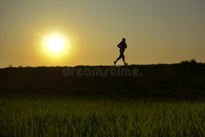Evening jogging zdjęcia royalty free