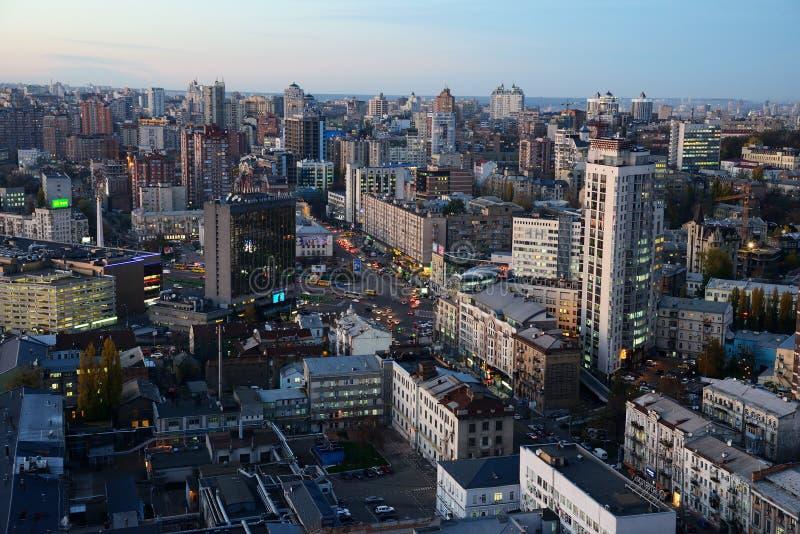 Download Evening Kiev city editorial stock photo. Image of urban - 34907103