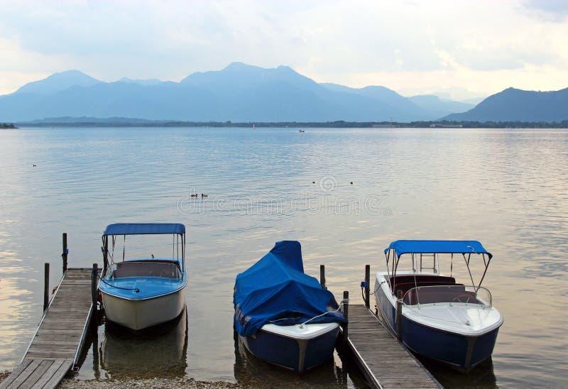 evening at a lake royalty free stock image