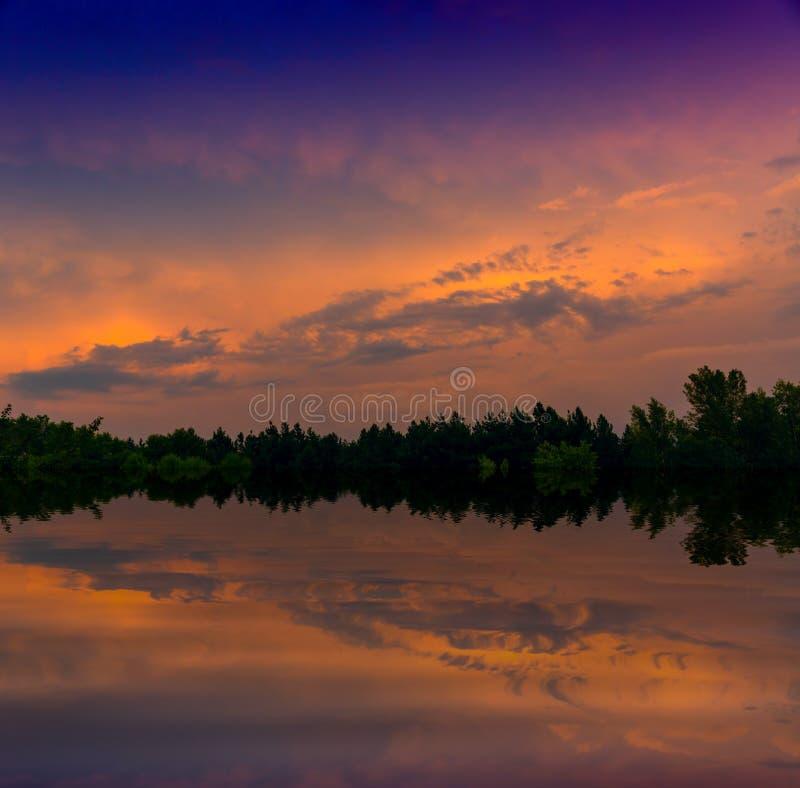 Evening on lake royalty free stock image