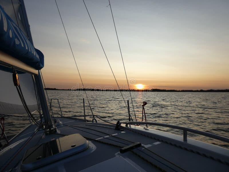 Evening at the lake, Masuria, Poland stock photography