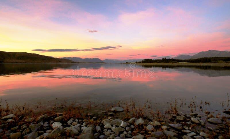 Evening at Lake Tekapo. NZ royalty free stock image