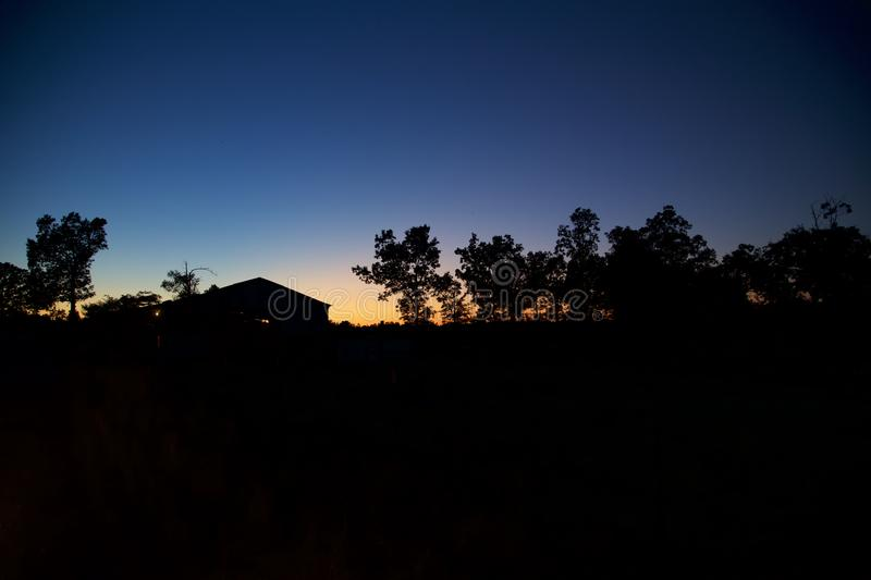 Evening Light. Evening sky in an Arkansas farm royalty free stock photos