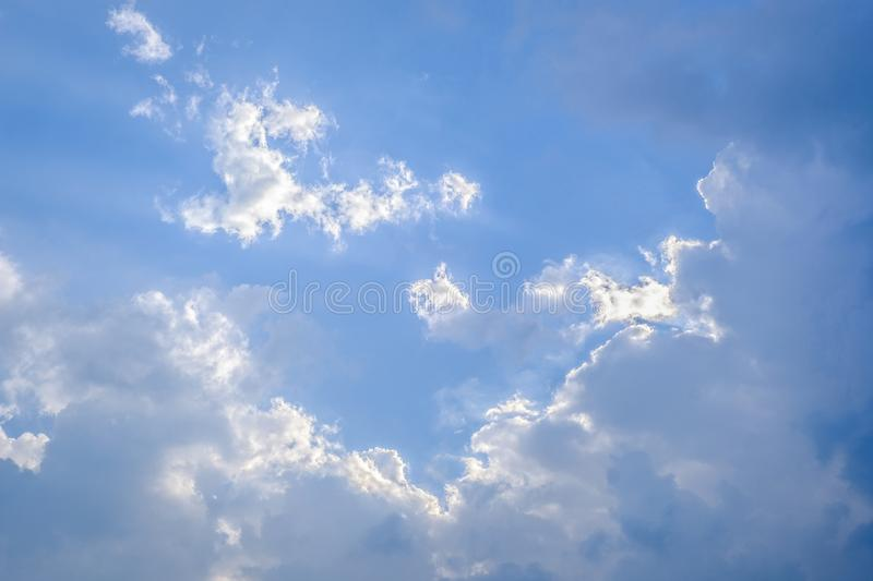 Evening light in the sky. And clouds royalty free stock photos