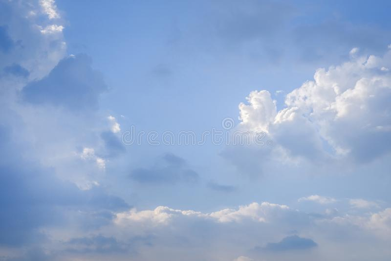 Evening light in the sky. And clouds royalty free stock photography