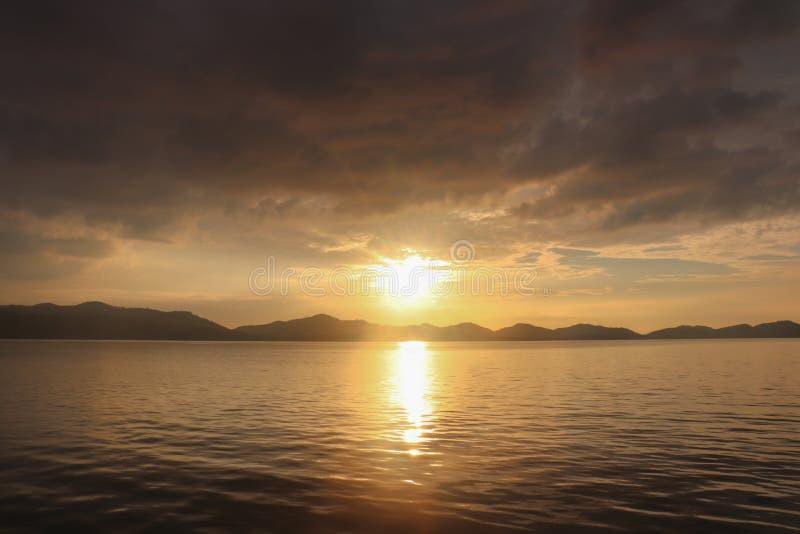 Evening light of sunset. At koh yao noi. at Phangnga stock photo