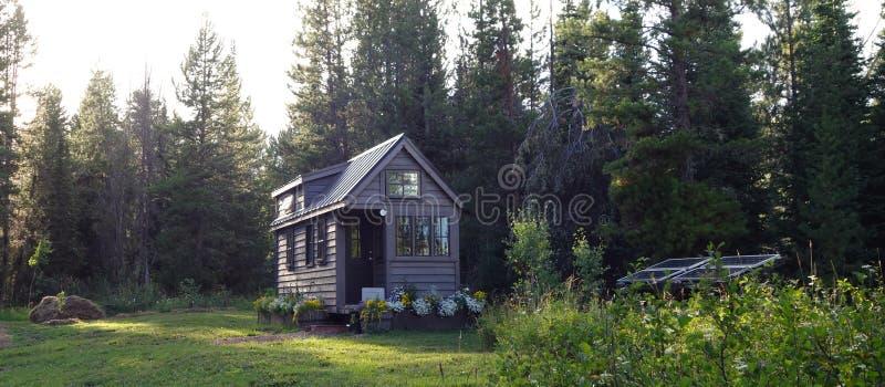 Evening Light Tiny House stock photography