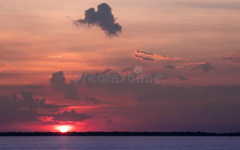 The evening light. The evening light in winter at the sea royalty free stock photography