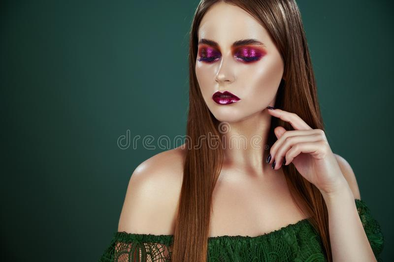 Evening make-up stock photo