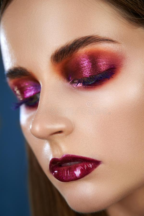 Bright evening make-up royalty free stock images