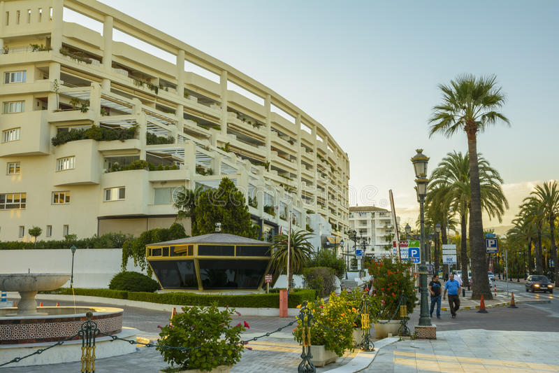Evening in Marbella city, Andalucia, Spain royalty free stock photo