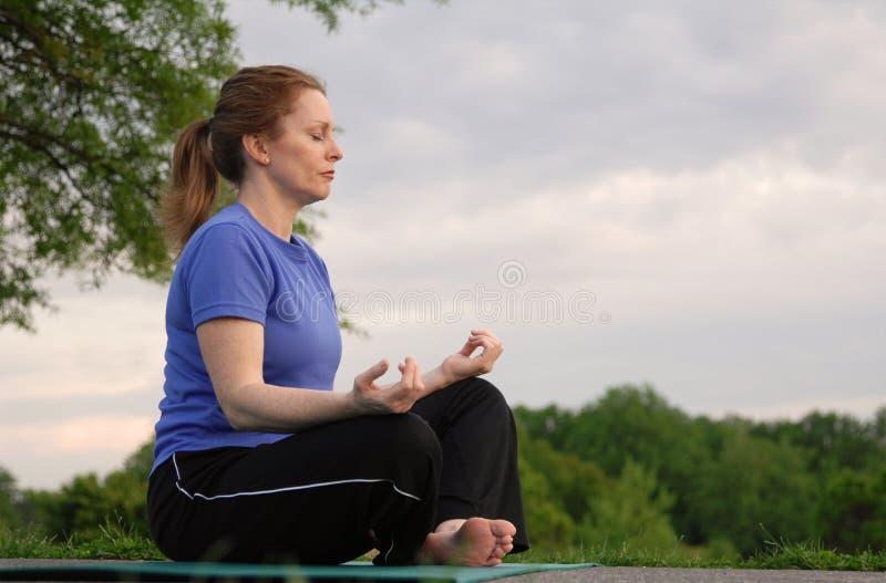 Evening Meditation Stock Photography