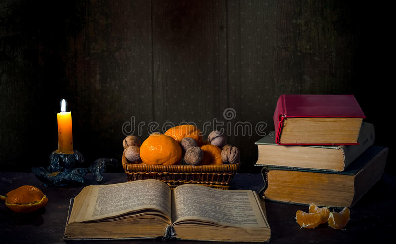 Evening mood with candles stock image