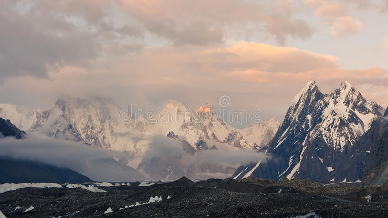 Evening Mood In The Karakorum Mountains Stock Photography