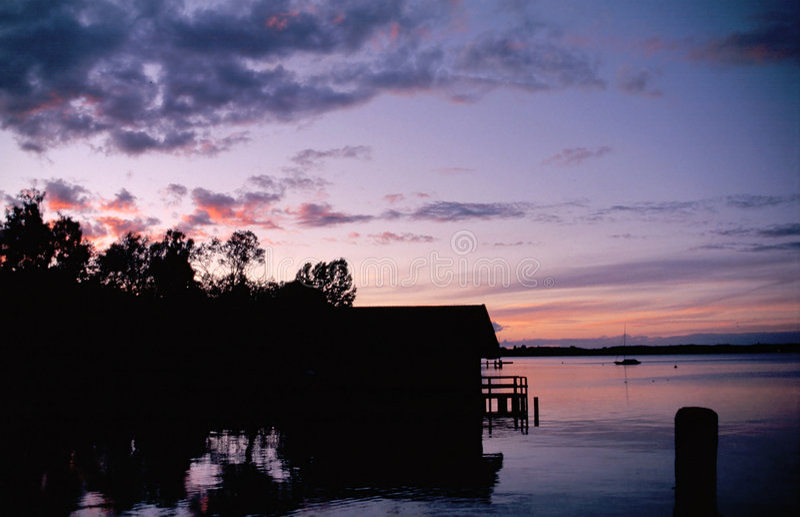 Evening mood at the lake royalty free stock image