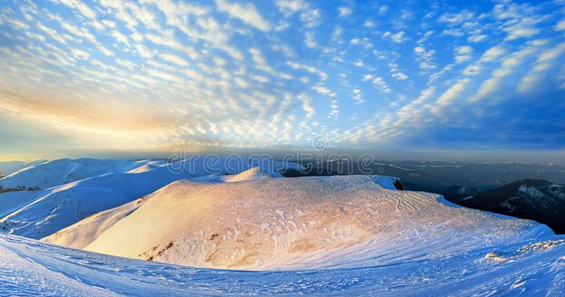 Evening mountain gold royalty free stock image