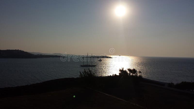 Evening in Mykonos stock images