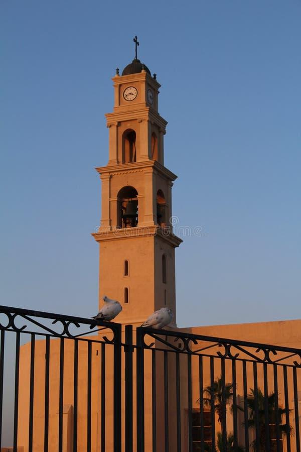 Evening nad starym Jaffa zdjęcia royalty free