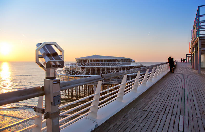 Download Evening By North Sea Pier Royalty Free Stock Photography - Image: 21958987