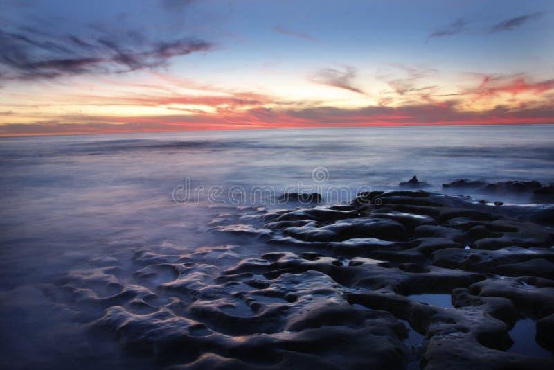 Evening Ocean stock images