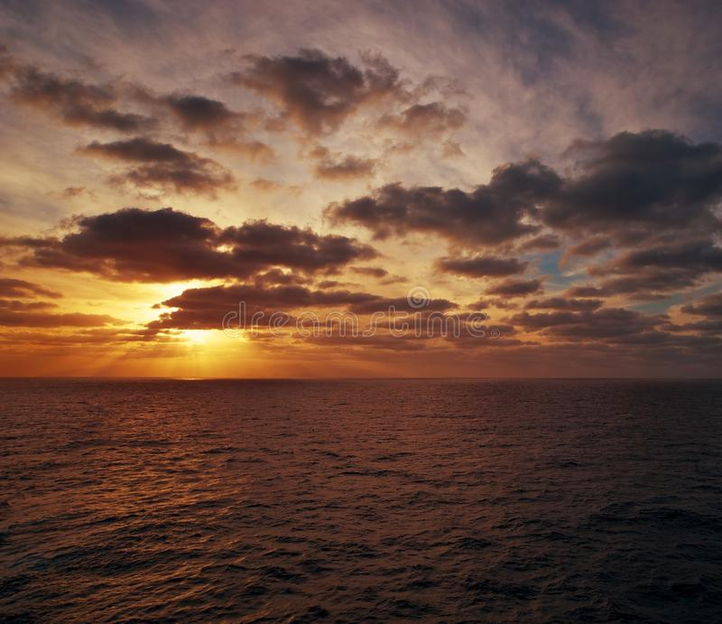 Download Evening over an ocean stock image. Image of peaceful - 26829545