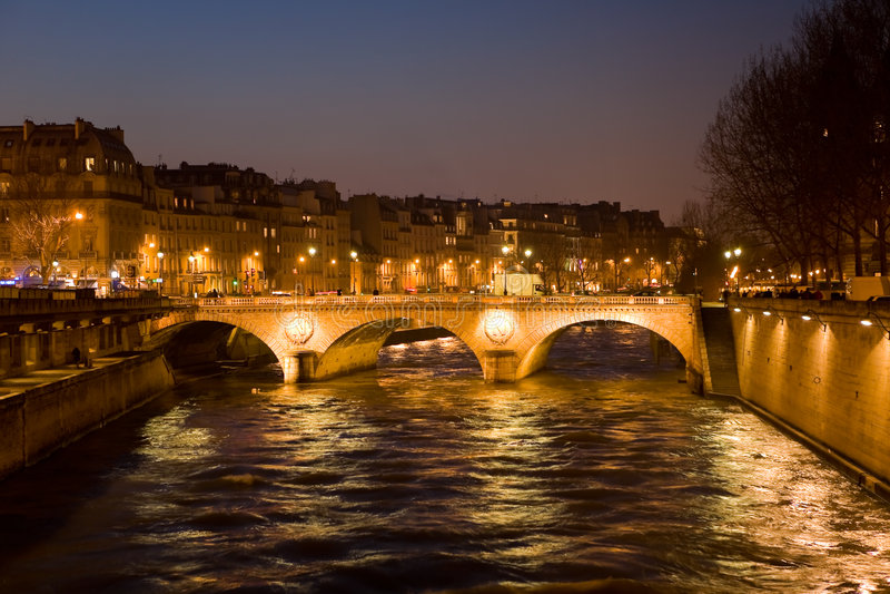 Evening Paris 3 stock photo