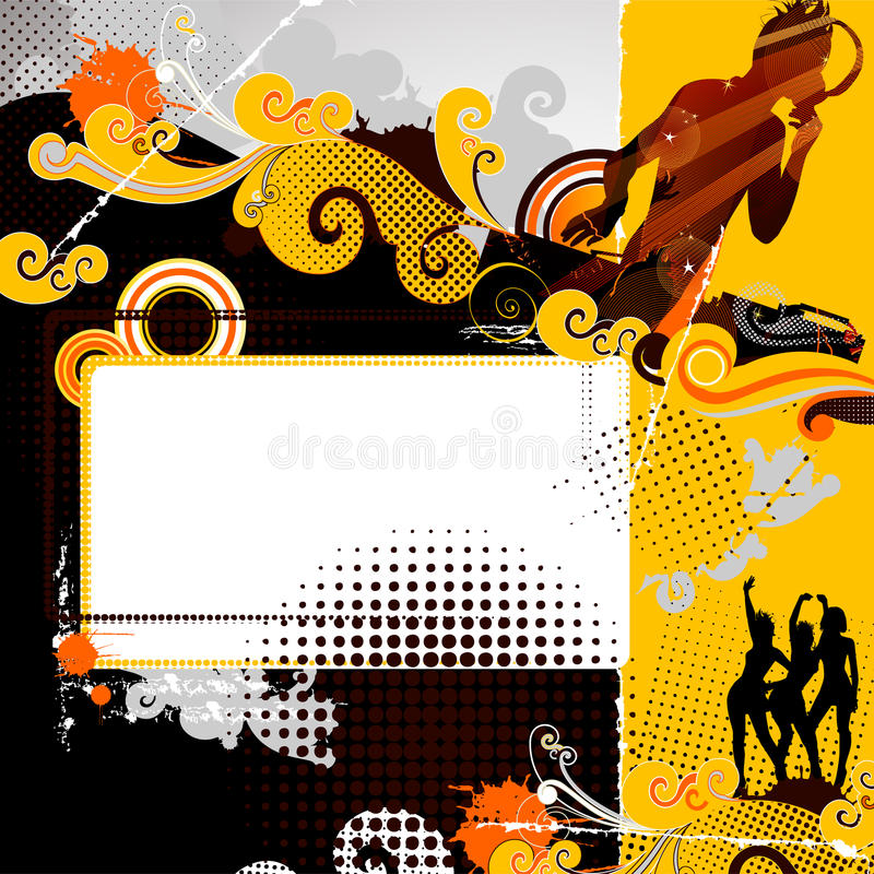 Evening-party royalty free illustration