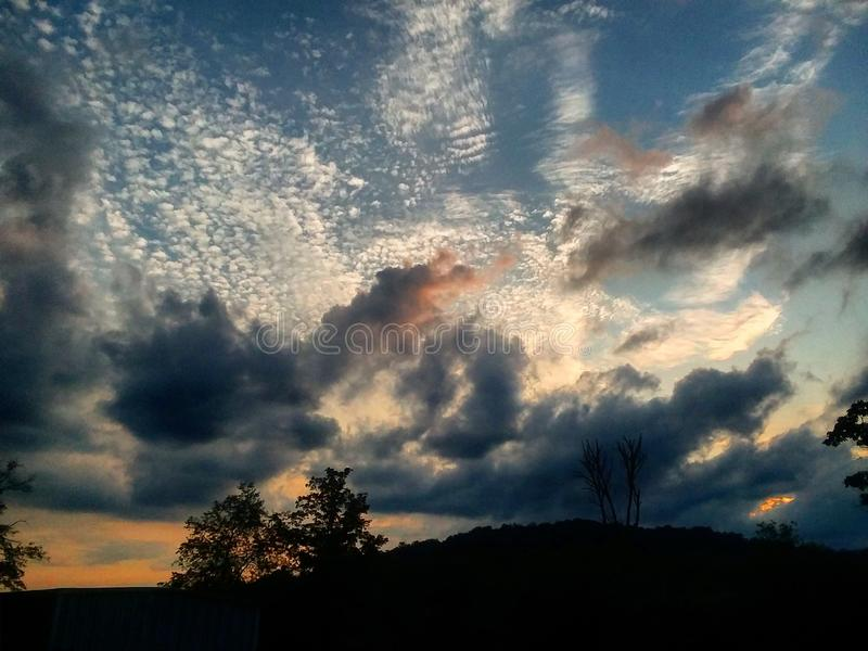 My evening sky stock image