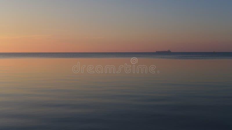 Evening on port philip bay stock photos