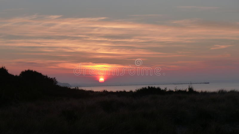 Evening on port philip bay royalty free stock photography
