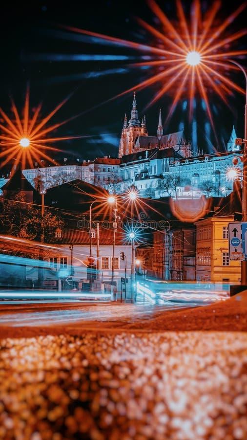 Evening in Prague. Under Prague Castle royalty free stock photo